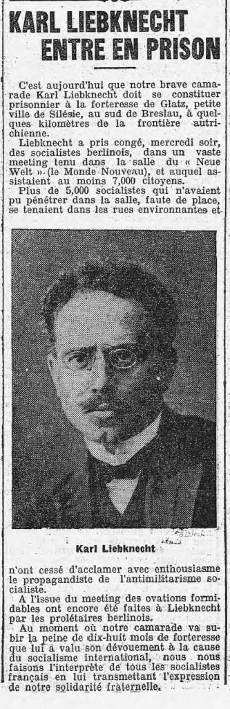 Dans L'Humanité du 25 octobre 1907.