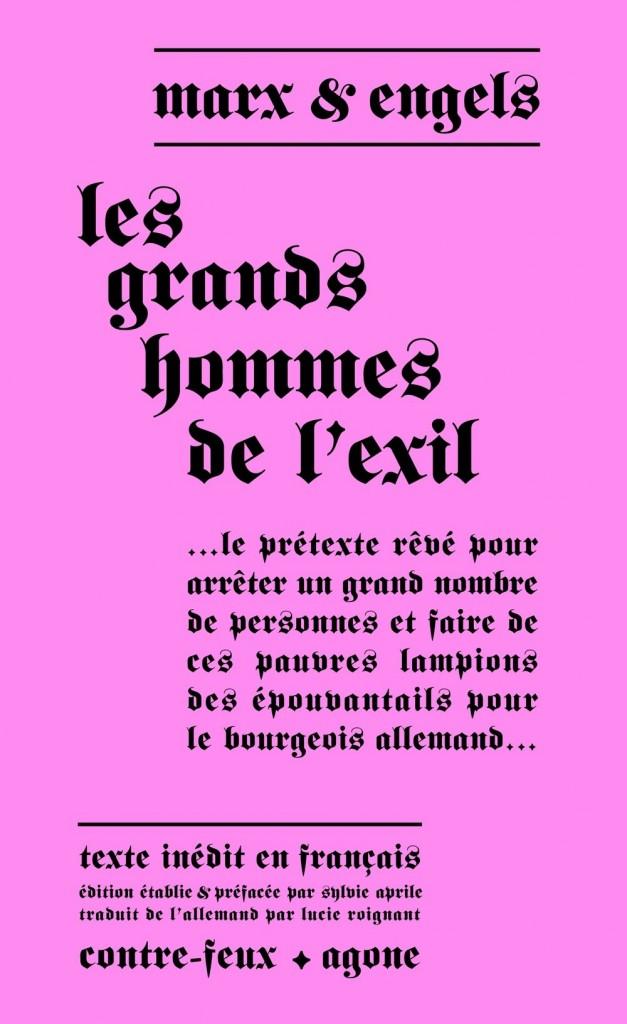 Marx Engels vs Grands hommes